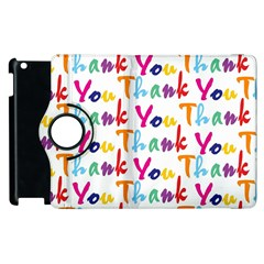 Wallpaper With The Words Thank You In Colorful Letters Apple Ipad 3/4 Flip 360 Case