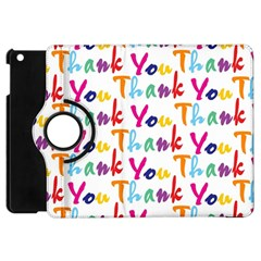 Wallpaper With The Words Thank You In Colorful Letters Apple Ipad Mini Flip 360 Case by Simbadda
