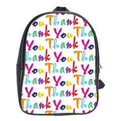 Wallpaper With The Words Thank You In Colorful Letters School Bags (xl)  by Simbadda