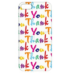 Wallpaper With The Words Thank You In Colorful Letters Apple Iphone 5 Hardshell Case With Stand