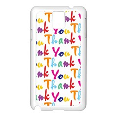 Wallpaper With The Words Thank You In Colorful Letters Samsung Galaxy Note 3 N9005 Case (white)