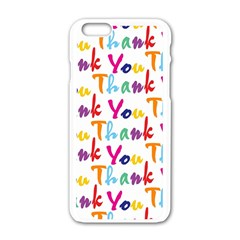 Wallpaper With The Words Thank You In Colorful Letters Apple Iphone 6/6s White Enamel Case by Simbadda