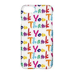 Wallpaper With The Words Thank You In Colorful Letters Apple Iphone 7 Hardshell Case