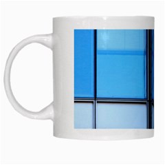 Modern Office Window Architecture Detail White Mugs