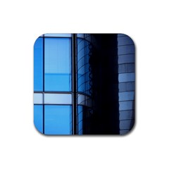 Modern Office Window Architecture Detail Rubber Coaster (square)  by Simbadda