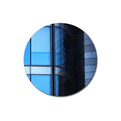 Modern Office Window Architecture Detail Magnet 3  (round) by Simbadda