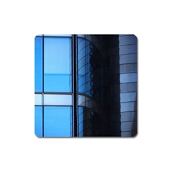 Modern Office Window Architecture Detail Square Magnet by Simbadda