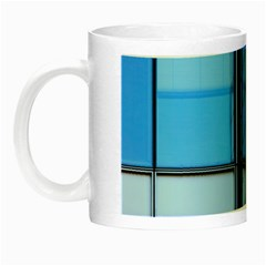 Modern Office Window Architecture Detail Night Luminous Mugs by Simbadda