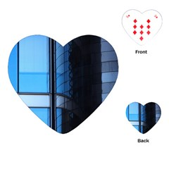 Modern Office Window Architecture Detail Playing Cards (heart)  by Simbadda