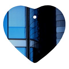 Modern Office Window Architecture Detail Heart Ornament (two Sides) by Simbadda