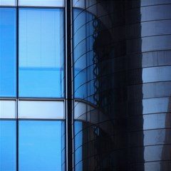 Modern Office Window Architecture Detail Canvas 20  X 20   by Simbadda