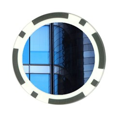 Modern Office Window Architecture Detail Poker Chip Card Guard (10 Pack) by Simbadda