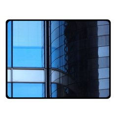 Modern Office Window Architecture Detail Fleece Blanket (small) by Simbadda