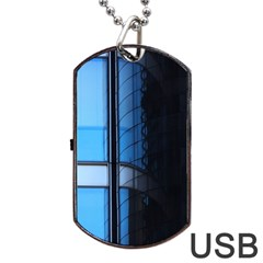 Modern Office Window Architecture Detail Dog Tag Usb Flash (two Sides) by Simbadda