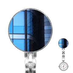 Modern Office Window Architecture Detail Stainless Steel Nurses Watch by Simbadda