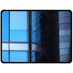 Modern Office Window Architecture Detail Double Sided Fleece Blanket (large)  by Simbadda