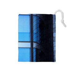 Modern Office Window Architecture Detail Drawstring Pouches (medium)  by Simbadda