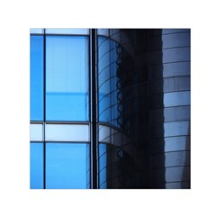 Modern Office Window Architecture Detail Small Satin Scarf (square) by Simbadda