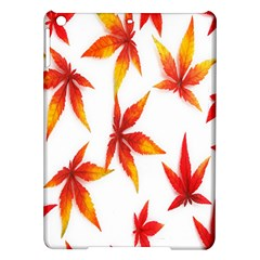 Colorful Autumn Leaves On White Background Ipad Air Hardshell Cases by Simbadda