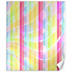 Colorful Abstract Stripes Circles And Waves Wallpaper Background Canvas 20  X 24   by Simbadda