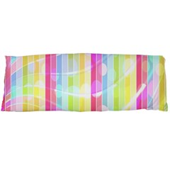 Colorful Abstract Stripes Circles And Waves Wallpaper Background Body Pillow Case (dakimakura) by Simbadda