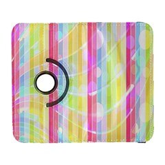 Colorful Abstract Stripes Circles And Waves Wallpaper Background Galaxy S3 (flip/folio) by Simbadda