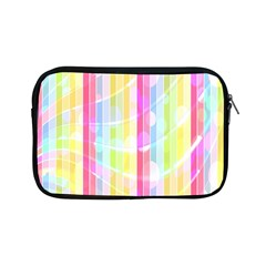 Colorful Abstract Stripes Circles And Waves Wallpaper Background Apple Ipad Mini Zipper Cases by Simbadda