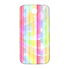 Colorful Abstract Stripes Circles And Waves Wallpaper Background Samsung Galaxy S4 I9500/i9505  Hardshell Back Case