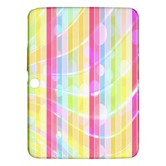Colorful Abstract Stripes Circles And Waves Wallpaper Background Samsung Galaxy Tab 3 (10 1 ) P5200 Hardshell Case