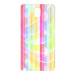 Colorful Abstract Stripes Circles And Waves Wallpaper Background Samsung Galaxy Note 3 N9005 Hardshell Back Case