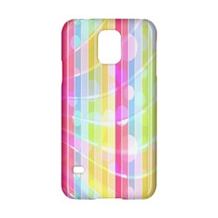 Colorful Abstract Stripes Circles And Waves Wallpaper Background Samsung Galaxy S5 Hardshell Case  by Simbadda