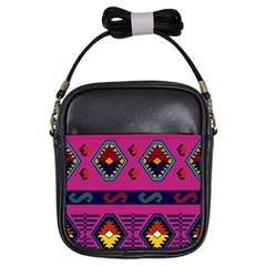 Abstract A Colorful Modern Illustration Girls Sling Bags