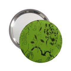 Abstract Green Background Natural Motive 2 25  Handbag Mirrors by Simbadda