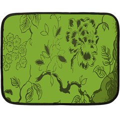 Abstract Green Background Natural Motive Double Sided Fleece Blanket (mini)