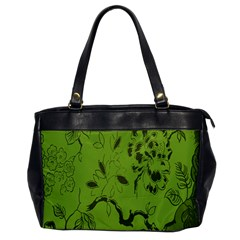 Abstract Green Background Natural Motive Office Handbags by Simbadda