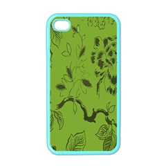 Abstract Green Background Natural Motive Apple Iphone 4 Case (color) by Simbadda