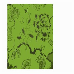 Abstract Green Background Natural Motive Large Garden Flag (two Sides) by Simbadda
