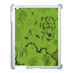 Abstract Green Background Natural Motive Apple Ipad 3/4 Case (white) by Simbadda