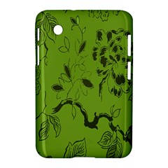 Abstract Green Background Natural Motive Samsung Galaxy Tab 2 (7 ) P3100 Hardshell Case