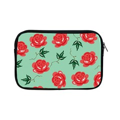 Floral Roses Wallpaper Red Pattern Background Seamless Illustration Apple Ipad Mini Zipper Cases by Simbadda