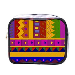 Abstract A Colorful Modern Illustration Mini Toiletries Bags