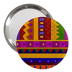 Abstract A Colorful Modern Illustration 3  Handbag Mirrors by Simbadda