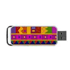 Abstract A Colorful Modern Illustration Portable Usb Flash (one Side) by Simbadda