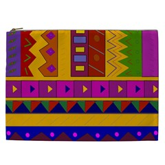 Abstract A Colorful Modern Illustration Cosmetic Bag (xxl)  by Simbadda