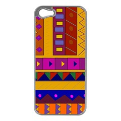 Abstract A Colorful Modern Illustration Apple Iphone 5 Case (silver) by Simbadda