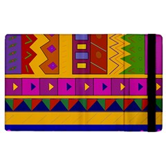 Abstract A Colorful Modern Illustration Apple Ipad 2 Flip Case by Simbadda