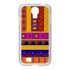 Abstract A Colorful Modern Illustration Samsung Galaxy S4 I9500/ I9505 Case (white)