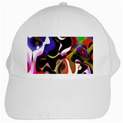 Colourful Abstract Background Design White Cap by Simbadda