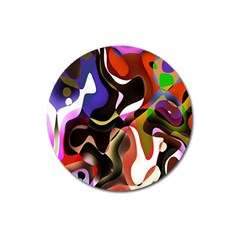 Colourful Abstract Background Design Magnet 3  (round) by Simbadda