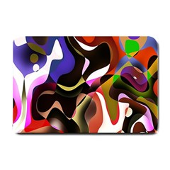 Colourful Abstract Background Design Small Doormat  by Simbadda